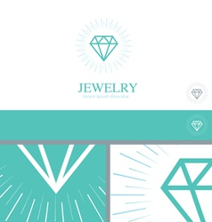 Diamond Jewelry Jewler Logo Concept Design Element vector image