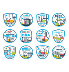 dna research genetic science and chemistry lab vector image