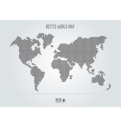 Dotted abstract world map Black round dots vector