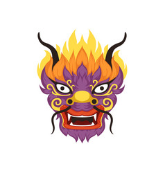 Dragon head element of chinese traditional boat vector