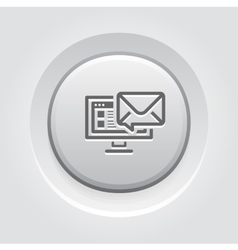 E-mail Marketing Icon Grey Button Design vector image