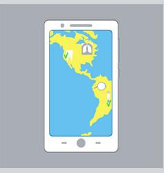 E-medicine smartphone concept vector