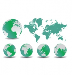 Earth globes set vector