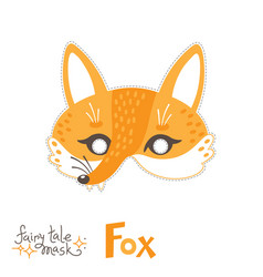 fox carnival mask for baby costume fairytale vector image