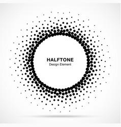 halftone circular dotted frame circle halftone vector image