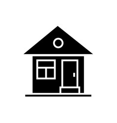 house simple with door icon vector image