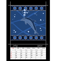July 2014 - dolphin vector image