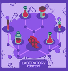 laboratory color concept isometric icons vector image