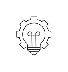 light bulb with cogwheel vector image