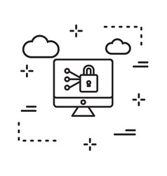 Locked icon in creative design with elements for vector