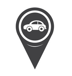 map pointer car icon vector image