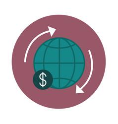 Mobile banking around world exchange finance vector