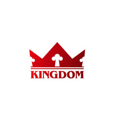 Modern royal logo with red crown elements vector
