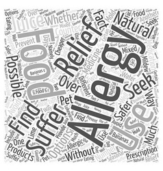 Natural Allergy Relief Is It Possible Word Cloud vector
