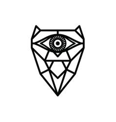 One eye owl logo logotype theme vector