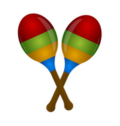 pair of maracas musical instrument vector image