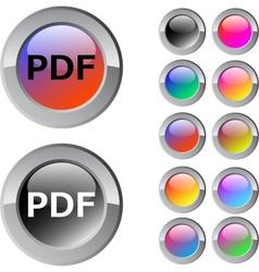 PDF multicolor round button vector image