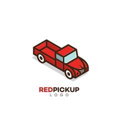pickup truck logo vector image