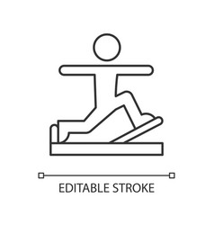 Pilates linear icon vector