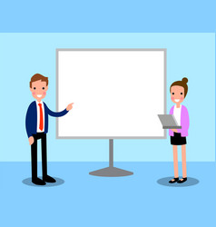 presentation business cartoon vector image