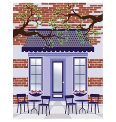 Provence style cafe outdoors vector