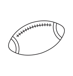 Rugby line icon vector image