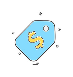sale tag icon design vector image