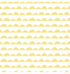 Scandinavian seamless yellow pattern in hand drawn vector