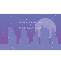 Scenery of city Happy New Years vector