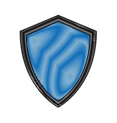 scribble shield cartoon vector image