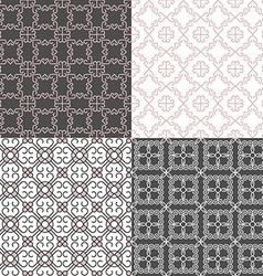 Seamless Geometric Patterned Background vector