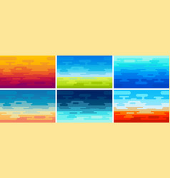 set of flat style backgrounds in different vector image