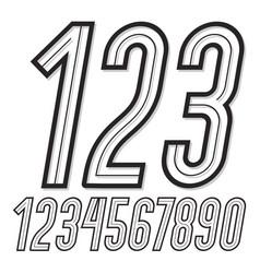 set of stylish retro tall condensed digits modern vector image