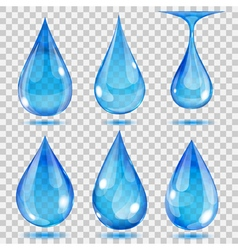 Set of transparent drops vector image