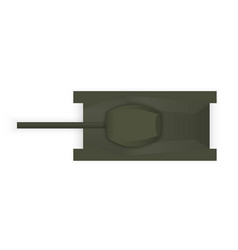 Silhouette a military tank view from above vector