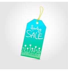 Spring sale tag 02 vector image
