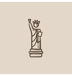 Statue of Liberty sketch icon vector image