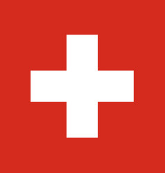swiss flag vector image vector image