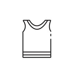 Thin line sportswear icon vector