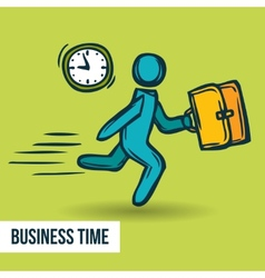 Time management business sketch vector