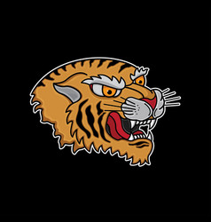 traditional tiger head tattoo vector image