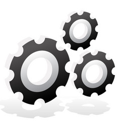 various gear wheel rack wheel graphics mechanics vector image