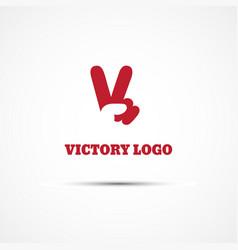 victory logo vector image