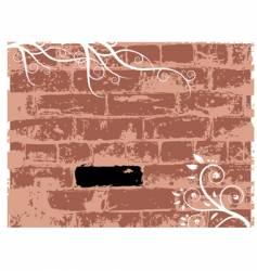 wall brick grunge background vector image