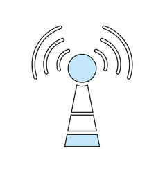 wifi antenna symbol vector image