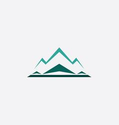 Winter snow mountain icon logo vector