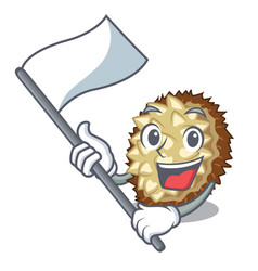 With flag fruit marang is located in mascot vector