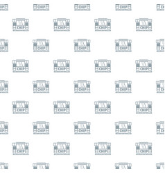 chip microcontroller pattern seamless vector image