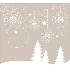 Chirstmas card background vector image