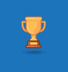 winner cup award on a blue vector image vector image